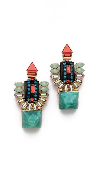 Elizabeth Cole Large Drop Earrings