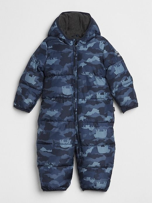c092555f6ae2 Gap Baby Coldcontrol Max Print Snowsuit True Indigo