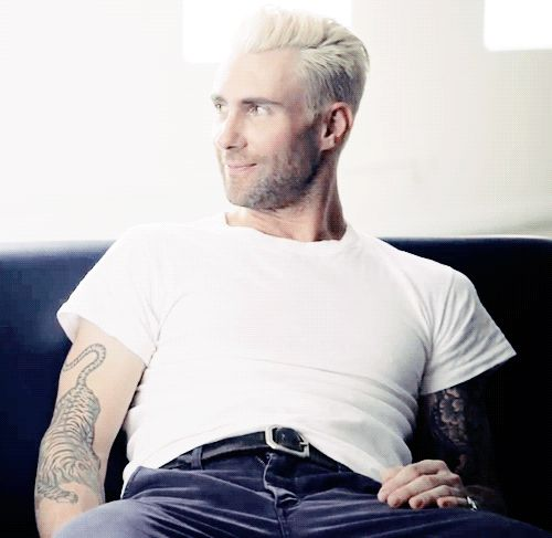 Adam Levine. gif. laughing.