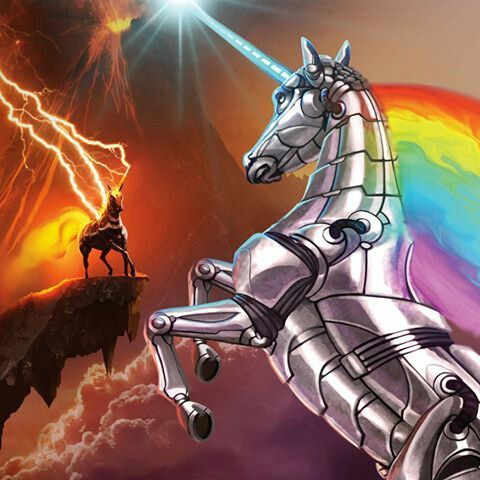 Robot Unicorn Attack 2 Rainbow vs. Inferno
