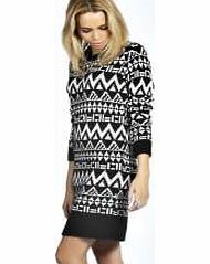 boohoo Royah Soft Laguna Knit Aztec Jumper Dress - No off-duty wardrobe is complete without a casual day dress. Basic bodycon dresses are always a winner and casual cami dresses a key piece for pairing with a polo neck , giving you that effortless eve http://www.comparestoreprices.co.uk/womens-clothes/boohoo-royah-soft-laguna-knit-aztec-jumper-dress-.asp