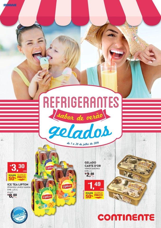 Promoções Novo Folheto Continente Online - de 1 a 20 de julho - Refrigerantes e Gelado