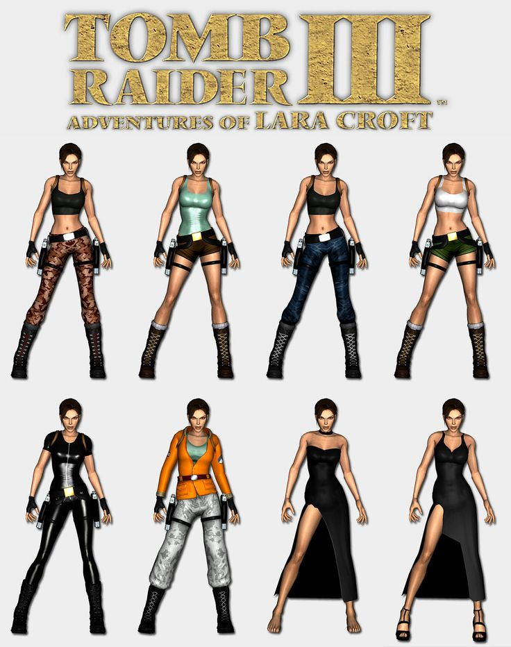 Tomb Raider 3 - Lara's outfits by HailSatana