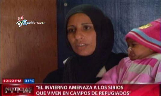 El Invierno Amenaza A Los Sirios Que Viven En Campos De Refugiados #Video