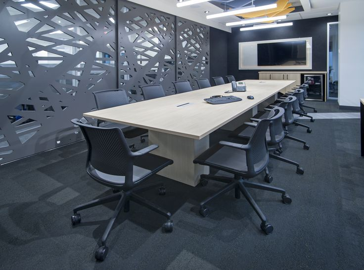 Boardroom with wall panels by Jonathan Morgan & Company