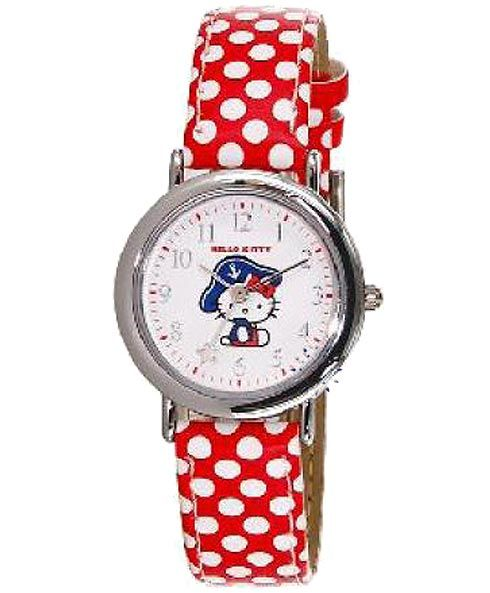 HELLO KITTY Kids Red Leather Strap HK3210-118