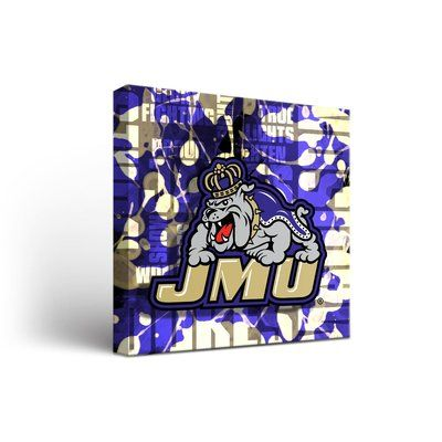 """Victory Tailgate NCAA Fight Song Framed Graphic Art on Wrapped Canvas NCAA Team: James Madison University Dukes, Size: 36"""" H x 36"""" W x 1.5"""" D"""