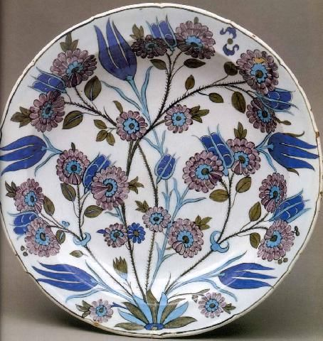 Deep Dish, ca.1550, Selcuk and Ottoman Pottery | Victoria & Albert Museum