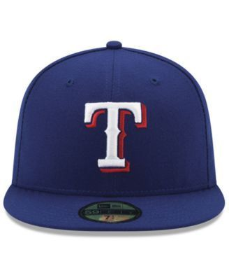 New Era Texas Rangers Authentic Collection 9-11 Patch 59FIFTY Fitted Cap - Blue 7 5/8