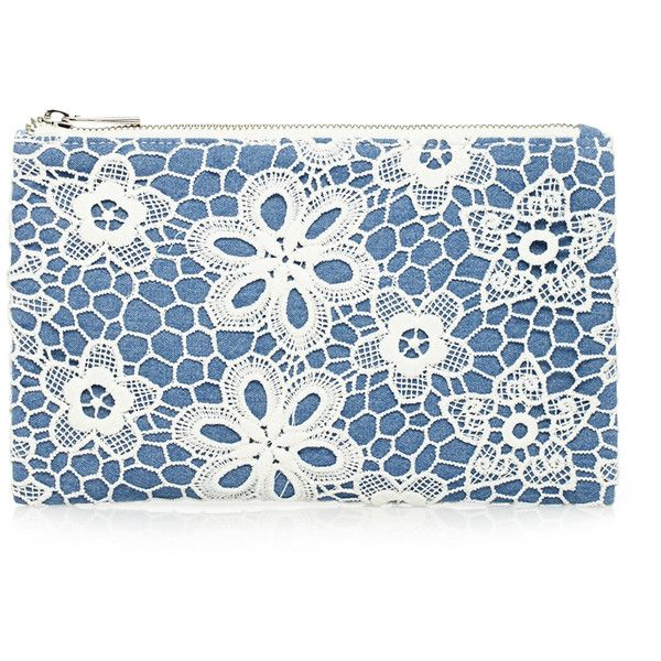 Forever 21 Floral Crochet Makeup Pouch (20 BRL) ❤ liked on Polyvore featuring beauty products, beauty accessories, bags & cases, bags, purses, beauty, flowers, travel gear and forever 21