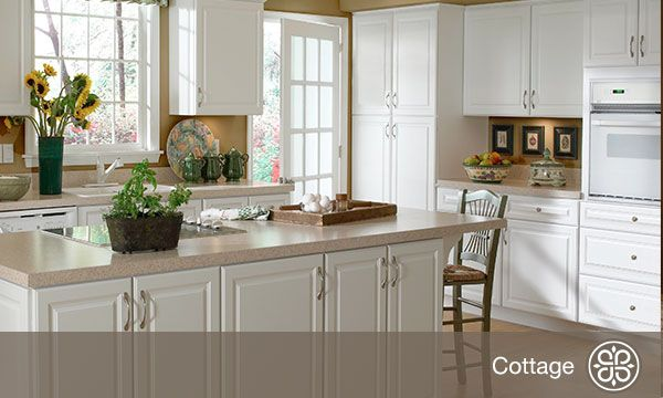 Hallmark Arctic White Cottage Style Cabnitry Kitchen Components Pinterest Home Online And