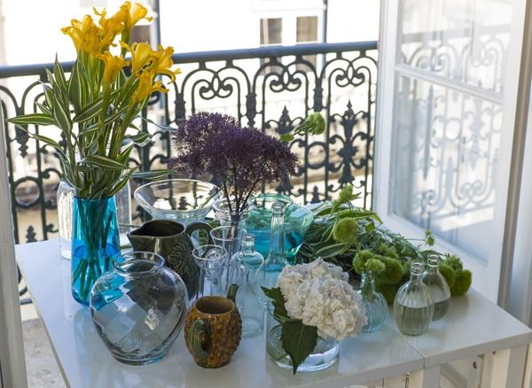spring flowers in Baixa House
