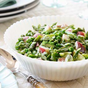 Easter Brunch Recipes: Spring Vegetable Salad #Hallmark #HallmarkIdeas