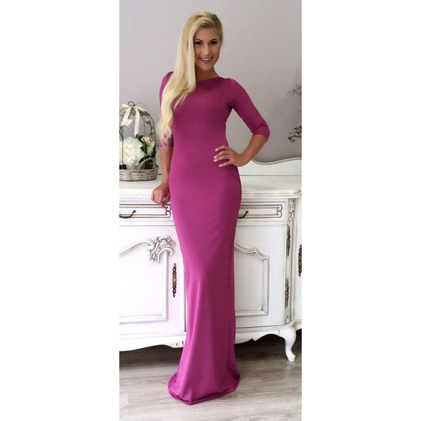Maxi Bodycon Evening Coctail Party Dress Dusky Pink Champagne Royal... ($85) ❤ liked on Polyvore featuring dresses, pink, women's clothing, royal blue maxi dress, body con dresses, royal blue cocktail dress, pink bodycon dress and pink cocktail dress