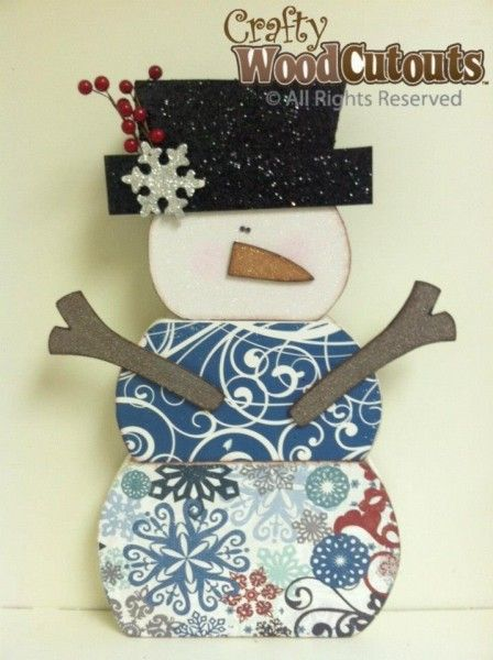 January & Winter Wood Crafts | Crafty Wood Cutouts