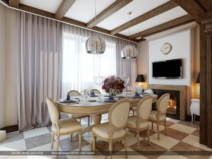 Dining Room. Long Dining Room Curtains Set With Modern Pendant Lamps And  Wooden Furniture Part 85