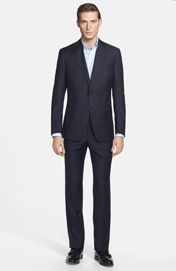 Zegna 'City' Dark Grey Check Wool Suit available at #Nordstrom