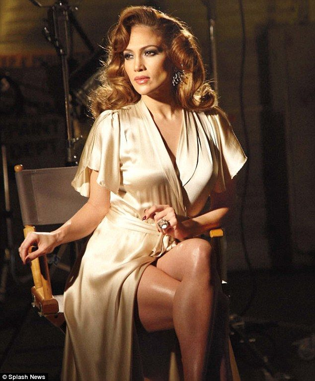 Old Hollywood glamour: Actress and American Idol judge Jennifer Lopez is stunning as she shoots her new advertisement for her Love & Light f...