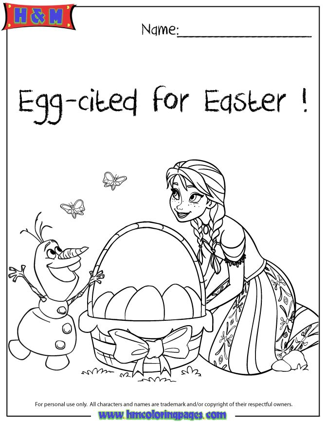 Anna Olaf Egg Cited For Easter Frozen Coloring Page ...