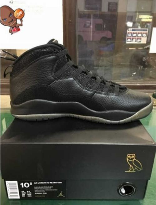 88c86662926fc8 Authentic Air Jordan 10 OVO Black basketball shoes