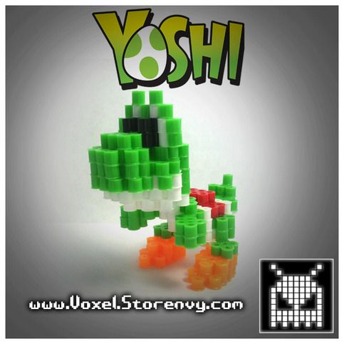 This is a Yoshi (Super Mario) I made in the cool new 3d perlerbead art style!   PLEASE SELECT THE COLOR YOU WOULD LIKE.  Products are made to order and do take about a week to make depending on the order.  Please Like Voxel on Facebook! http://facebook.com/voxelperlers  (These products a...