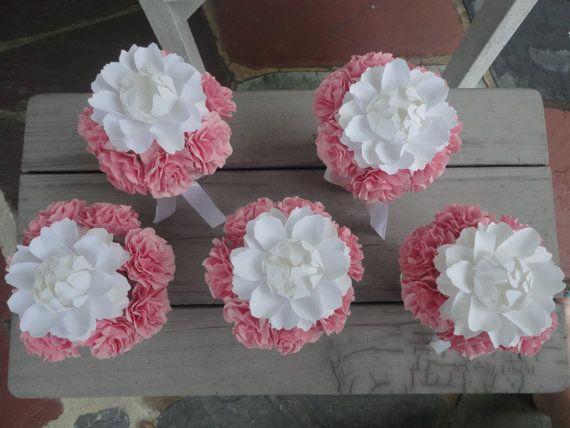 Paper Peony Centerpieces Paper Carnation Wedding by PoshStudios, $160.00