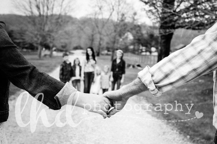 This would be cute with the kids in front, and me and Shawn looking back over our shoulders.