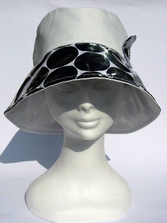 59ee7ef0da4 Ladies white rain hat
