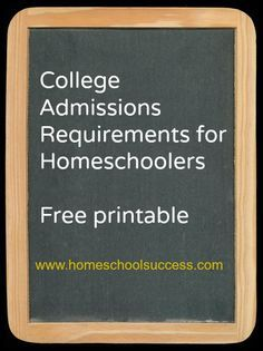 College Admissions Requirements for Homeschoolers