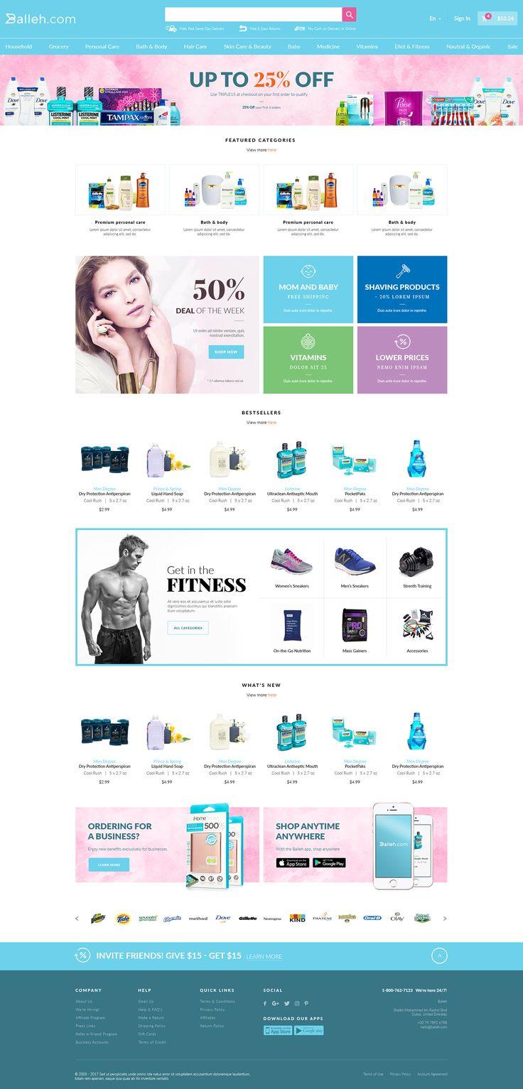 Balleh web design on Behance