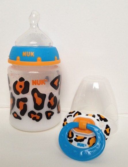 Reborn Magnetic Pacifier Nuk Leopard Faux Prop 5 oz Baby Doll Bottle With Formula CHOOSE on Etsy, $14.95