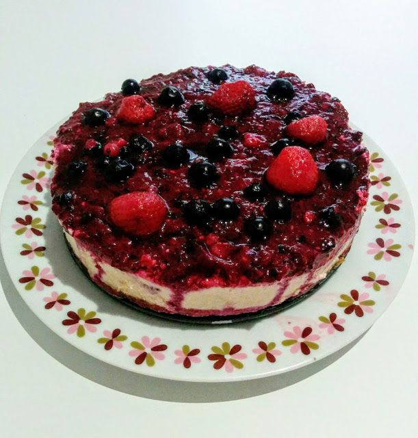 Raw cheesecake s lesními plody - Barista life