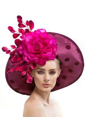 Raspberry:  Roll up burgundy/raspberry Silk taffeta Hat