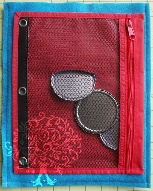 Cool way to do the back of a piggy bank page. Post shows the whole book.