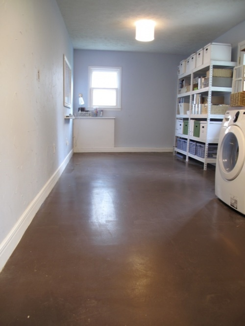 painted concrete floors. Paint Basement FloorsLaundry Room ... : laundry room flooring basement  - Aeropaca.Org