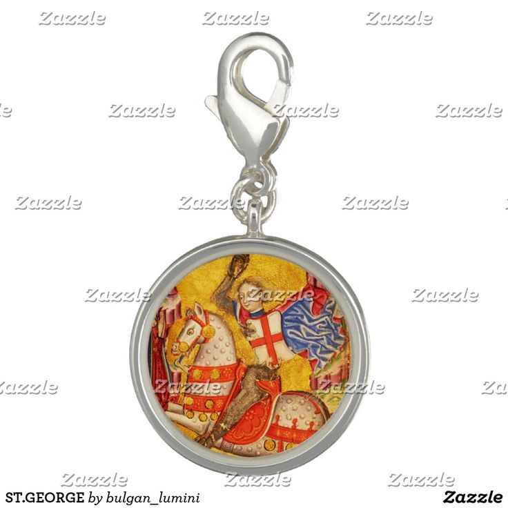 ST.GEORGE CHARM #stgeorge #knight #medieval #antique #jewelry #religious