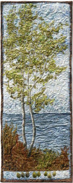 Native Trees - North Point Birches 3 - Lorraine Roy: Textile Art