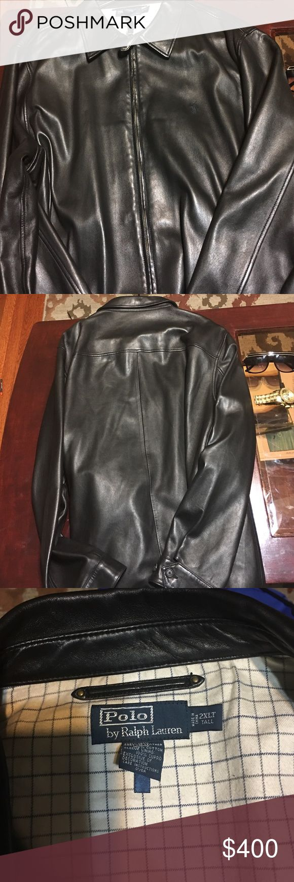 Polo Leather jacket Butter soft leather polo jacket like new worn a few times  Sz XXLT great for casual wear makes a awesome gift for that special someone. Another good find. Ralph Lauren Jackets & Coats Lightweight & Shirt Jackets