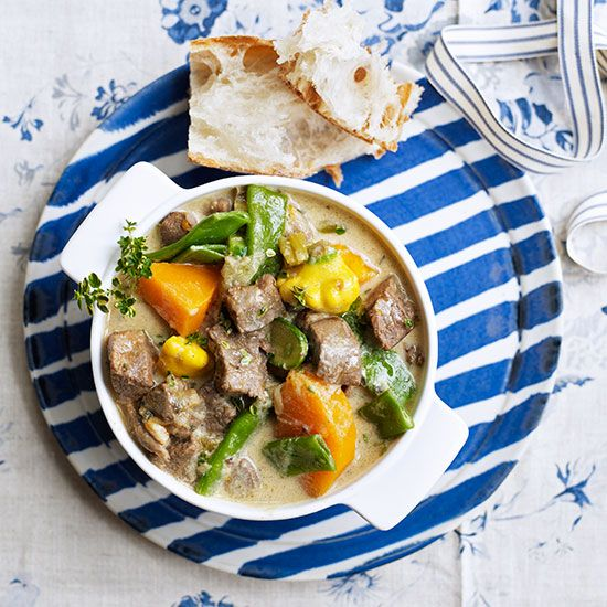 Cazuela de Cordero - A creamy stew-cum-broth from Argentina.   Recipe by Clare Ferguson, photographs by Tara Fisher, styling by Rachel Christensen.  http://www.hglivingbeautifully.com/2015/03/20/delicious-lamb-recipes-for-an-easter-feast/