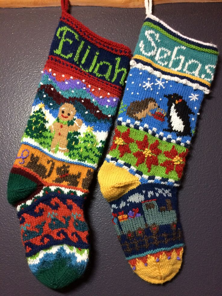 335 best Christmas Stockings images on Pinterest | Knitting stitches ...