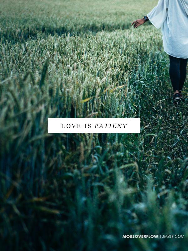Love is patient  1 Corinthians 13:4-7  #30DaysOfBibleLettering
