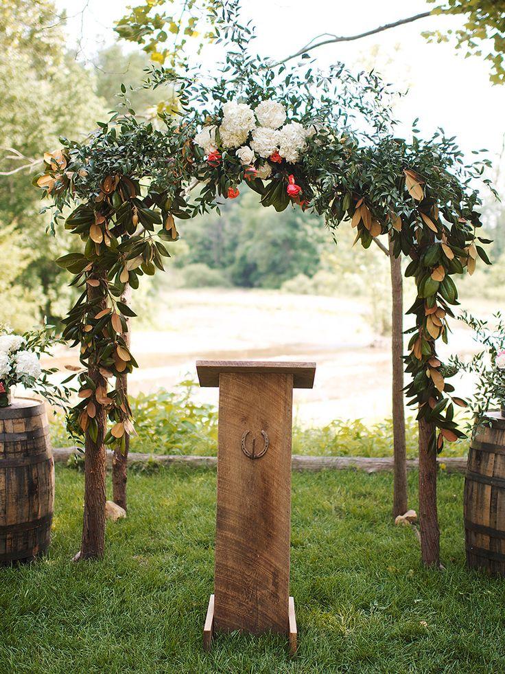 Best 25 wood wedding arches ideas on pinterest wood for Arbor wedding decoration ideas