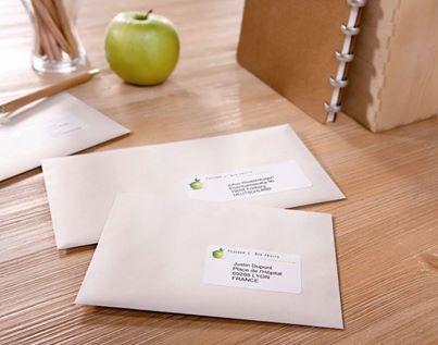 Przezroczysta etykieta adresowa