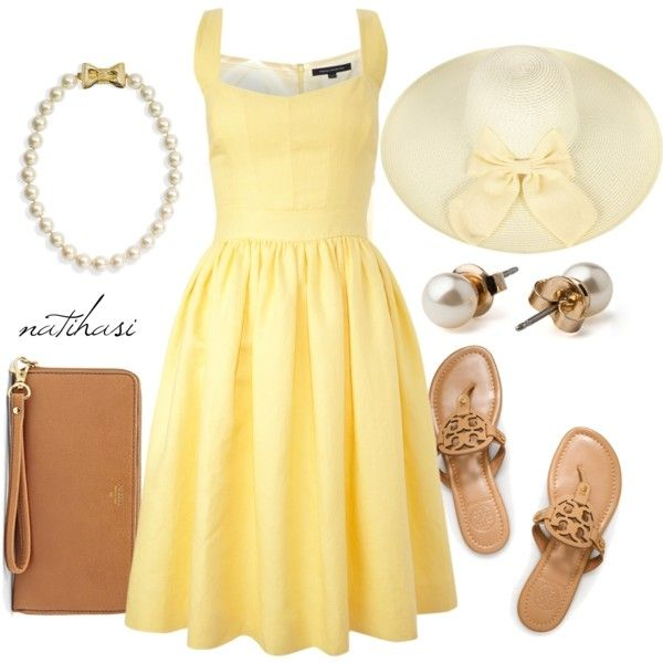 Preppy Garden Party Outfit! Reminds me of Blair Waldorf.