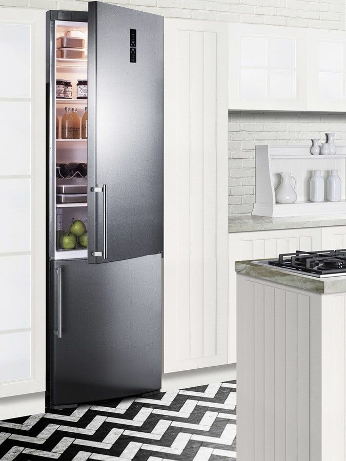 Summit Ffbf249ssbi 24 Inch Built In Bottom Freezer Refrigerator With Zerozone Drawer Intensive Cooling And Freezing Functions Adjule Gl Studio