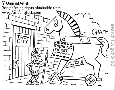 free trojan horse coloring pages - photo#30