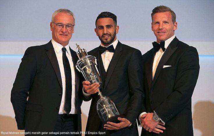 AKARPADINEWS.COM | Riyad Mahrez kian bersinar. Di ajang penghargaan Asosiasi Pesepakbola Profesional Inggris (PFA), pria berpaspor Aljazair tersebut menyabet predikat Player of The Years pada Minggu malam (24/4).