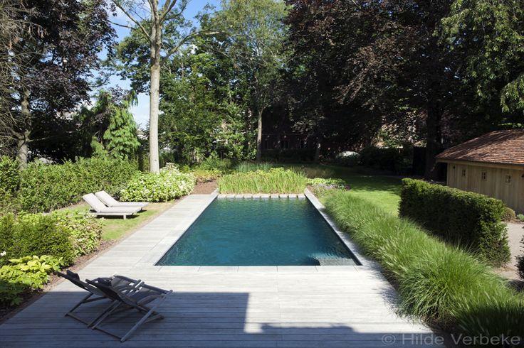 biologisch zwembad met terras in padoek bij authentieke woning ‹ De Mooiste Zwembaden