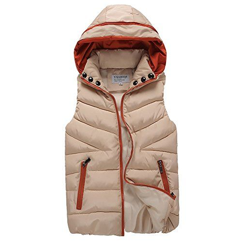 Rozzy K Womens Padded Puffer Active Zip Bodywarmer Down Quilted Hooded Vest *** You can get additional details at the image link.
