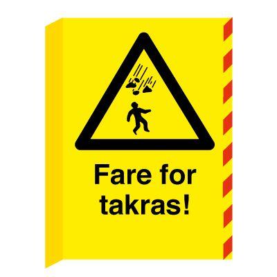 Fare for Takras! L-skilt - Kjøp fareskilt her
